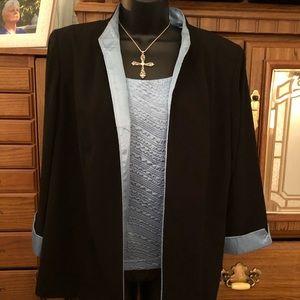 Ladies suit jacket & tank top size 14
